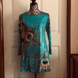 💚 Vintage Les Tout Petits sequins Girls dress  16